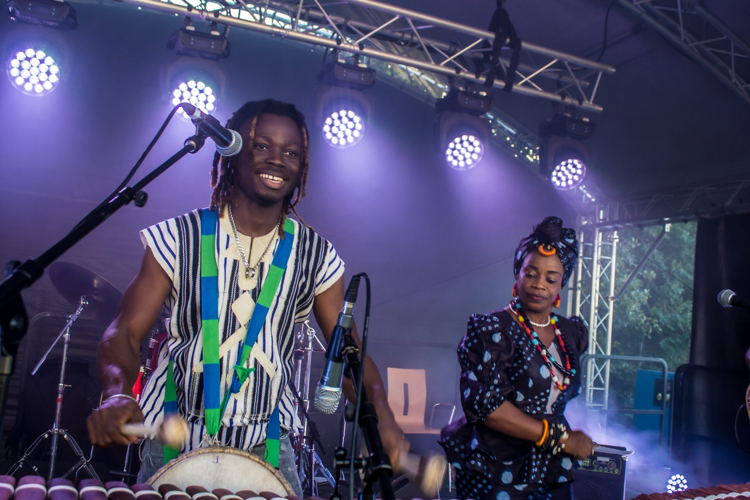 The Successors of the Mandingue live on stage at Butetown Carnival 2019