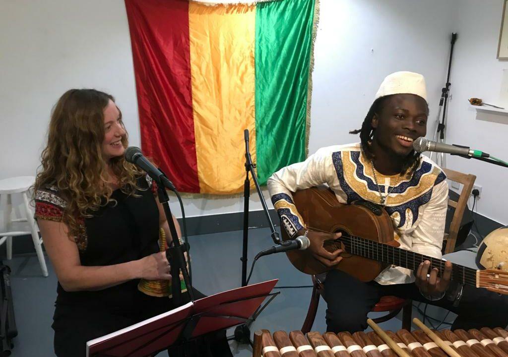 N'famady Kouyaté and Sallie Maclennan at Cardiff MADE