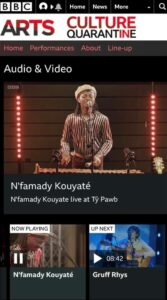BBC Website screenshot of N'famady Kouyate